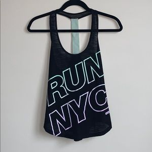 Live Love Dream Athletic Tank Top Run NYC Size XS